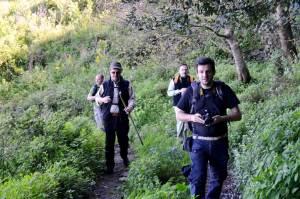 il gruppo di trekkers in una delle loro camminate