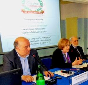 Spadafora, Corduas e Milito in occasione dell'ultimo convegno nazionale FNISM